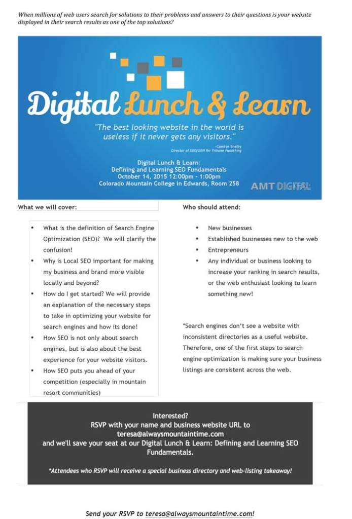 Digital Lunch Learn Defining and Learning SEO Fundamentals VVP