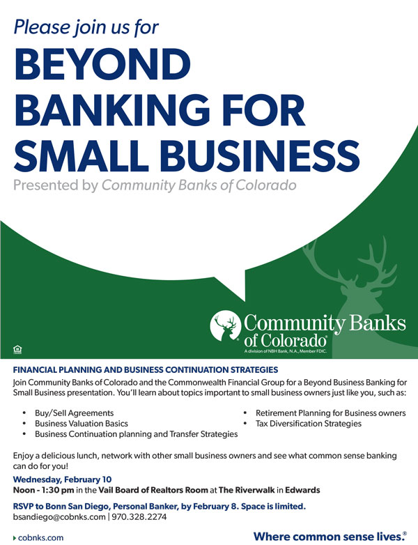 Beyond Business Banking for Small Business | VVP Events Calendar