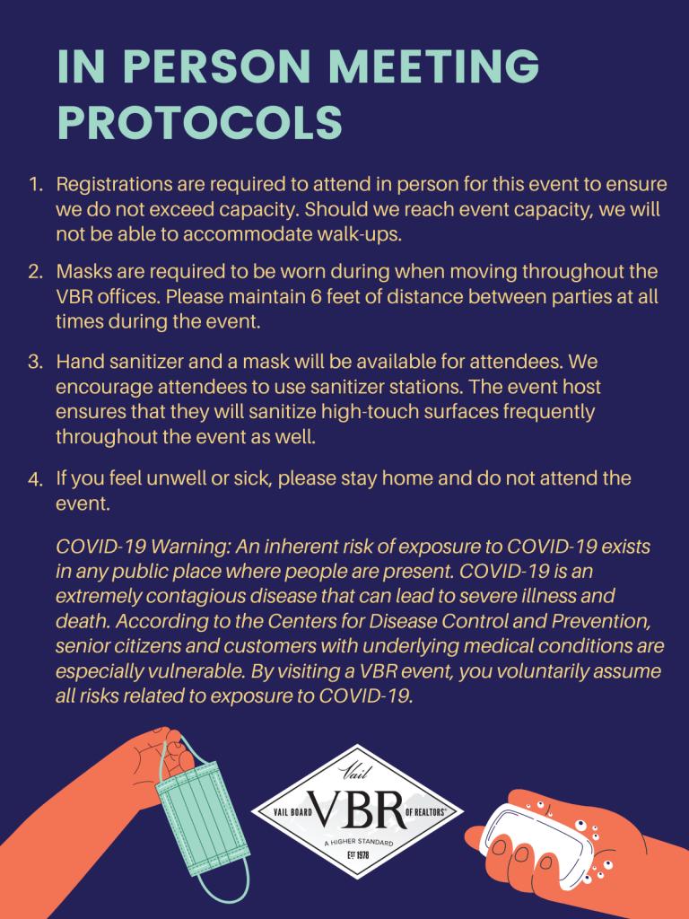 VBR Social Distancing Protocols