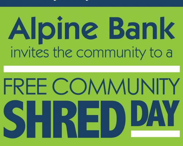 Alpine Bank Shred Day