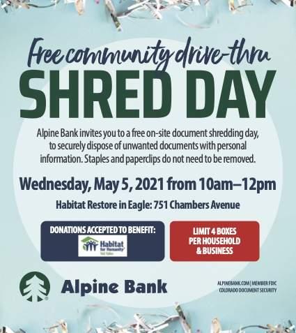 Shred Day ReStore HFHVV