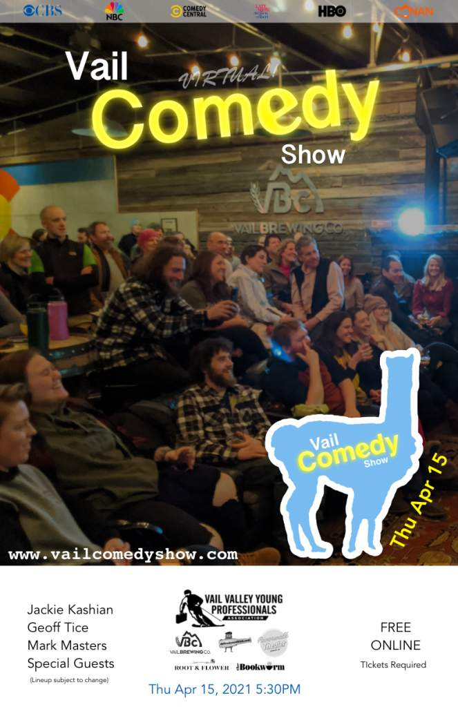 April 2021 Vail Comedy Show poster