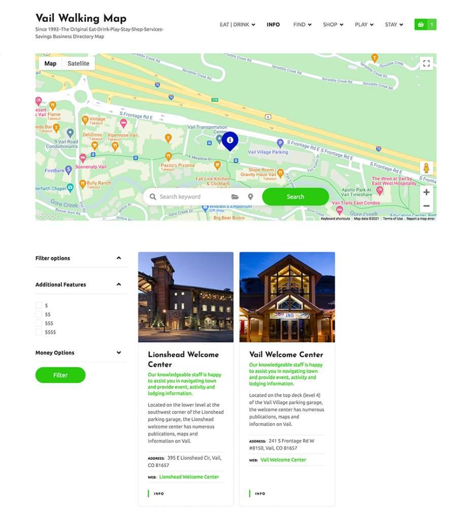 Vail Walking Map Website