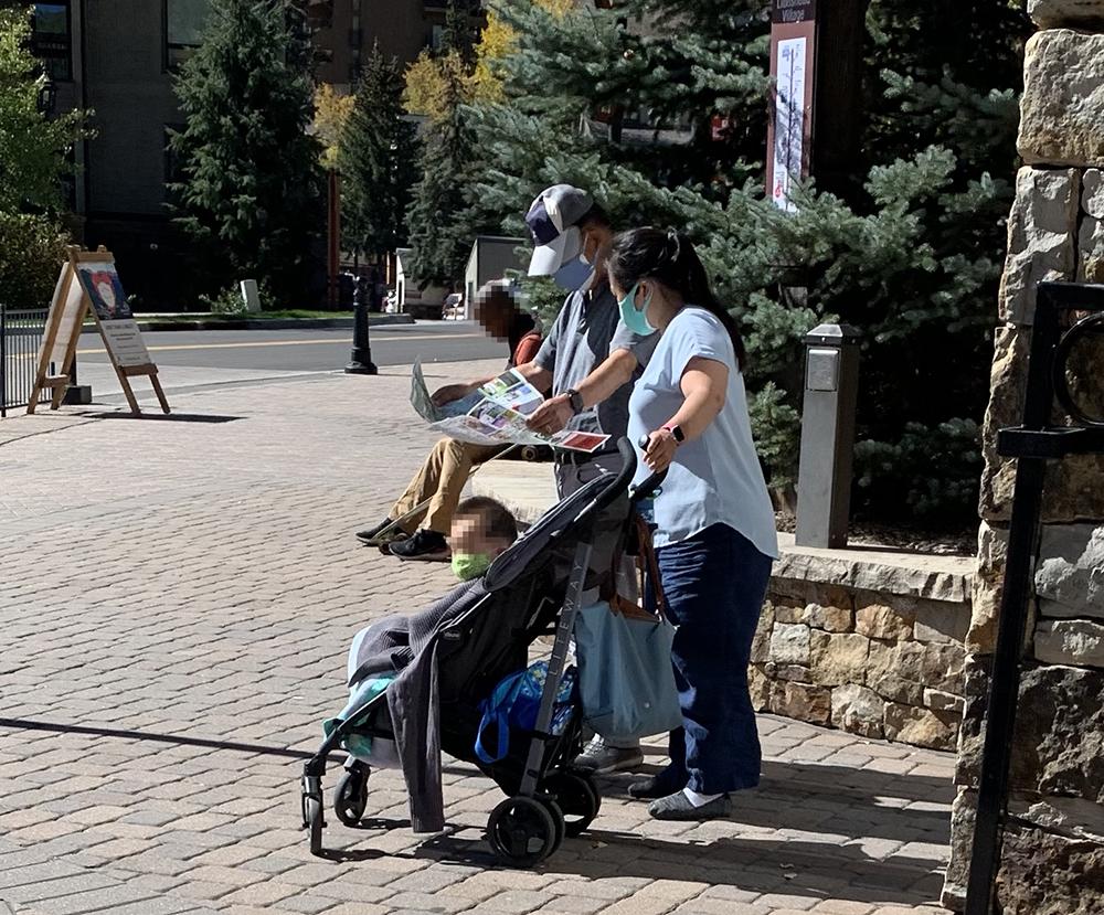 Visitors Using Vail Walking Map