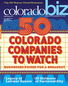 Colorado Biz Magazine Cover July 2015
